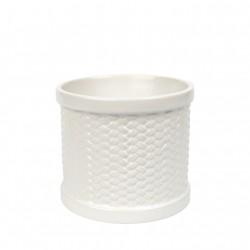 Scenterpiece Weave - kominek elektryczny do wosków biały