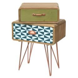 dekoracyjna szafka z szufladami