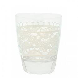 szklanka z dekoracją H: 9,5 cm
