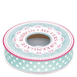 tasiemka dot dark mint 16mm5m