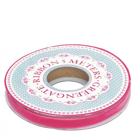 tasiemka Velvet pink 6mm 5m
