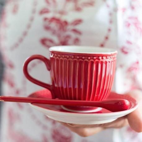 filiżanka + spodek Alice red h10cm