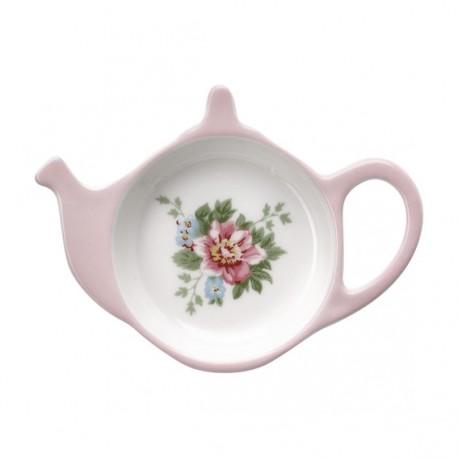 Spodeczek pod torebkę do herbaty aurelia white