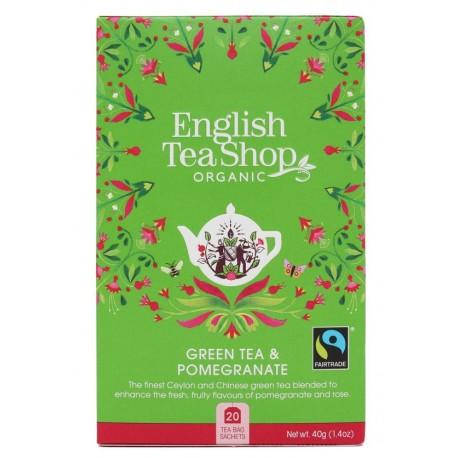 herbata green tea pomegranate 20 saszetek