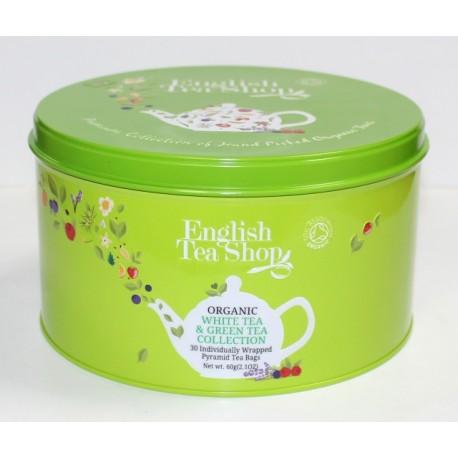 herbata zestaw puszka okrągła white&green 30szt.