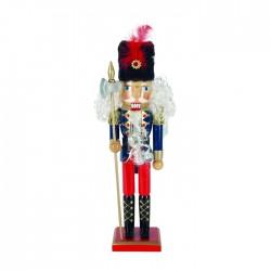 dziadek do orzechów żołnierz granatowo-czerwony 38,5cm