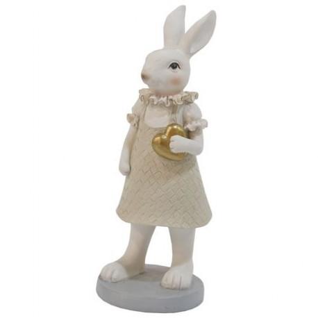 królik zając galeryjny ceramiczny 20,5cm
