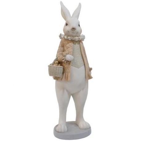 królik zając galeryjny ceramiczny duży 53cm