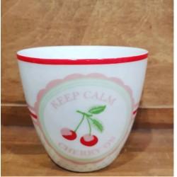 Kubek latte Cherry mega white