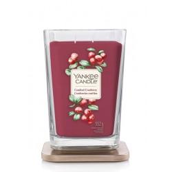 Candied Cranberry Yankee Candle duża kwadratowa świeca z dwoma knotami