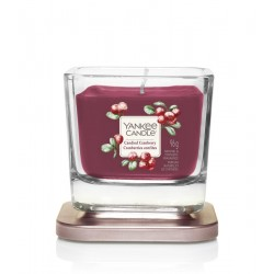 Candied Cranberry Yankee Candle mała kwadratowa świeca