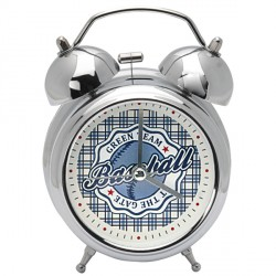 zegar budzik Baseball white 12cm